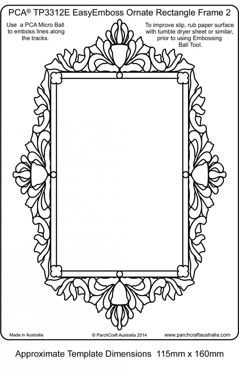 TP3312E Ornate-Frame-2 - Parchment Worldwide