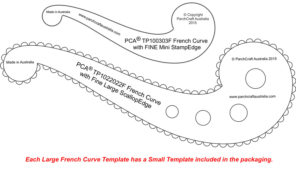 TP102222F-French-Curve-Double-Fine-edges - Parchment Worldwide
