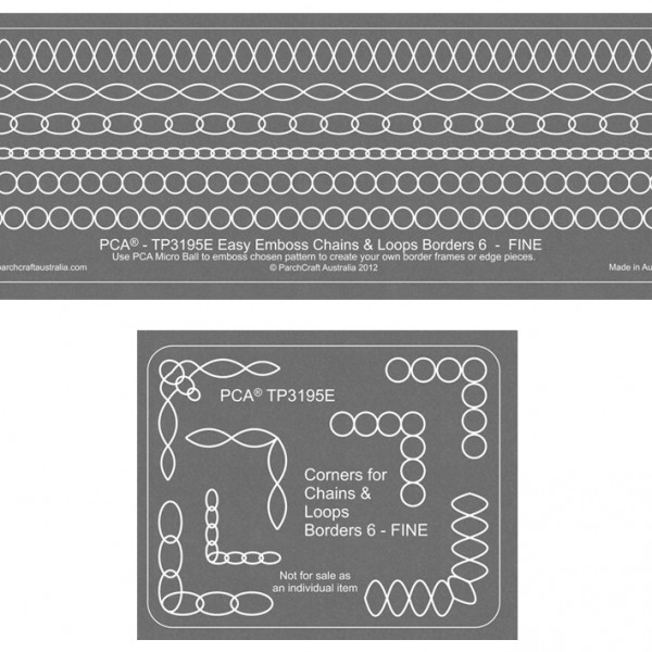 Easy Emboss chains and loops border- 6 fine TP3195E 2