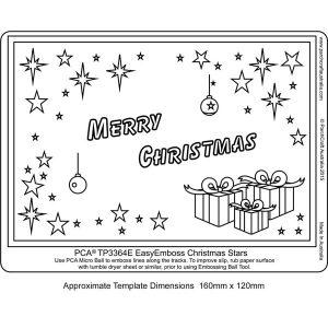 Easy Emboss christmas stars TP3364E