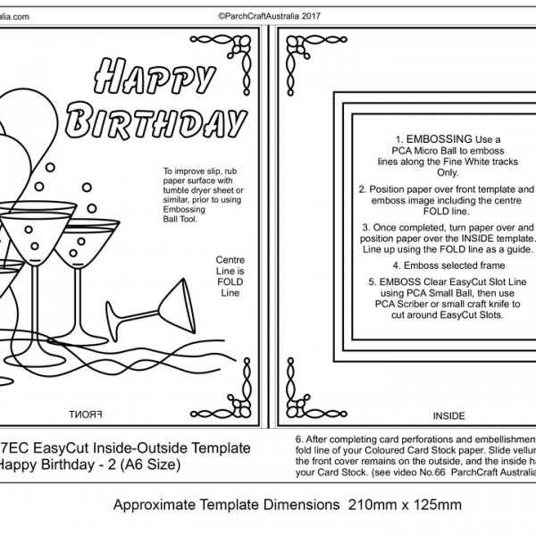 Tp7147ec easy cut insideoutside birthday card 2 parchment worldwide tp7147ec birthday 2 glasses face bw bookmarktalkfo Images