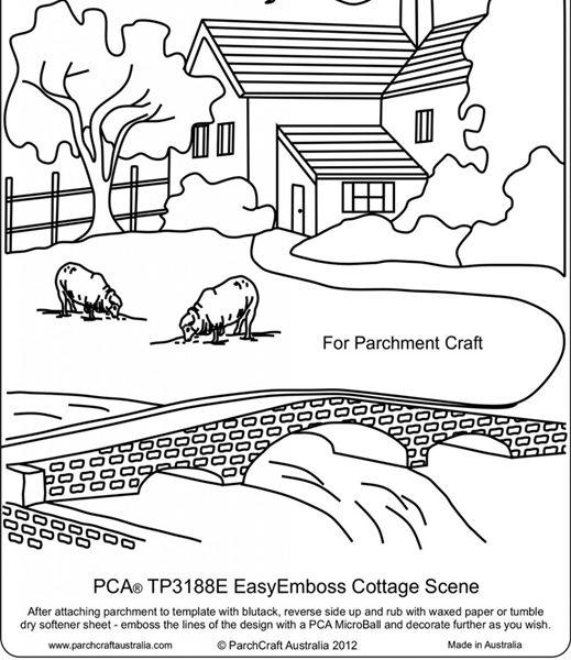 TP3188E Cottage Scene BW