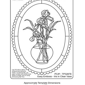 TP3287E iris in clear vase