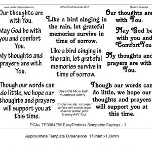 TP3984EW sympathy sayings 1 BW