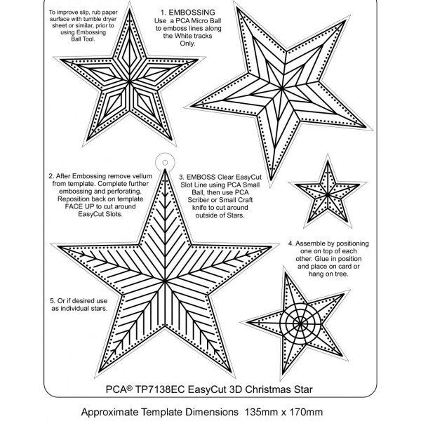 TP7138EC-Easycut 3d Christmas Star