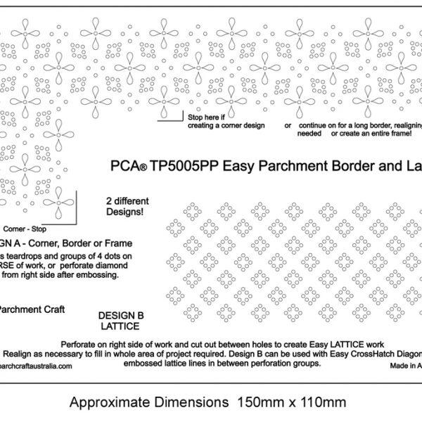 TP5005PP Easy Parchment Border and Lattice