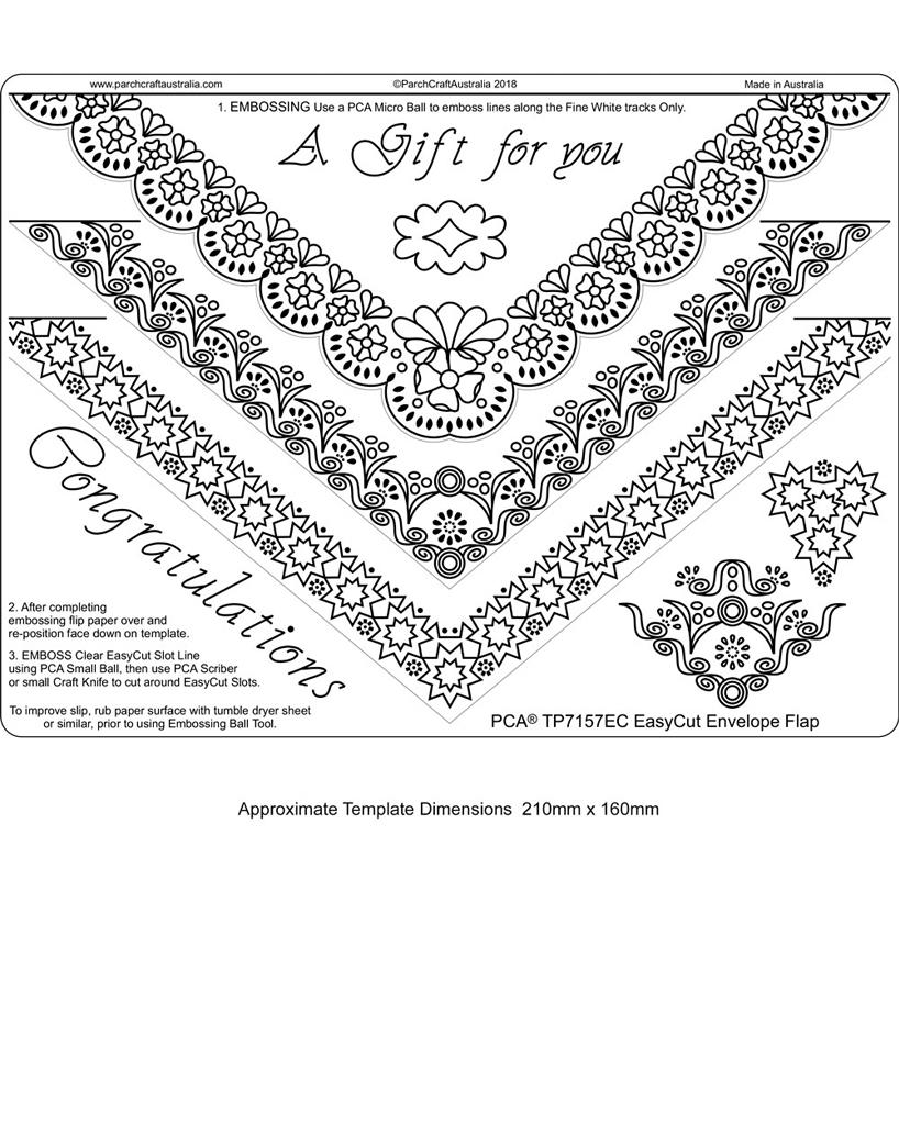 TP7157EC EasyCut Template Envelope Flap - Parchment Worldwide