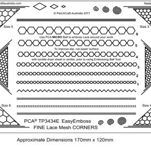 TP3434E Lace mesh corners