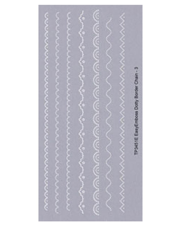 tp3451e easy emboss dotty border chain - 3