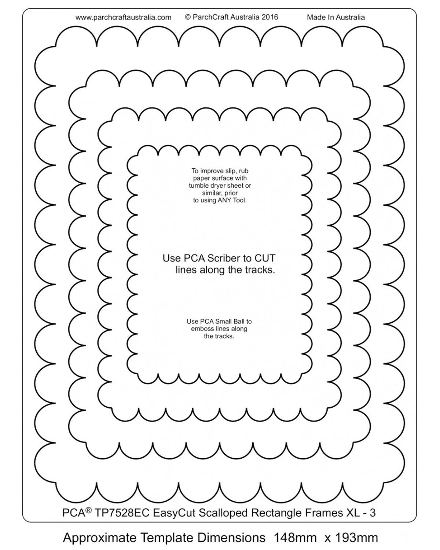 TP7528EC Easy Cut Scalloped Frames 3 - XL - Parchment Worldwide