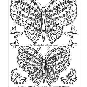 TP3480E Swirly Butterflies