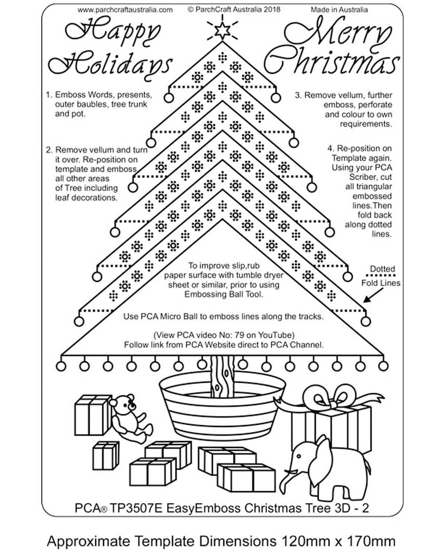 Tp3507e Easyemboss Christmas Tree 3d 2