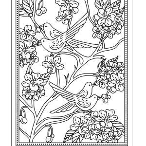 TP3543E Birds in Blossom